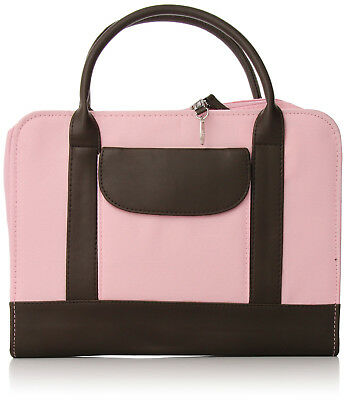 Bible Study Organizer Pink with Leather Look Accents Bible Cover Brand New