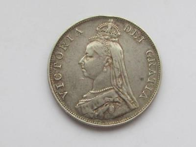 1887 Arabic 1 Jubilee Head silver Double Florin - Good collectable coin
