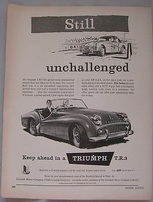 1958 Triumph TR3 Original advert No.1