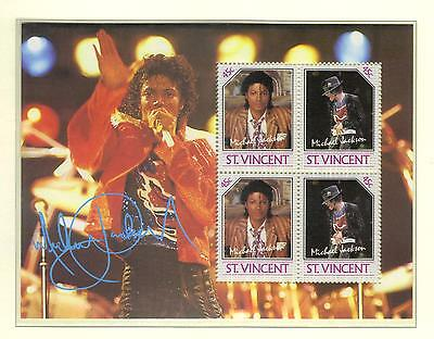 MICHAEL JACKSON   STAMP SHEET  from ST VINCENT  see scan