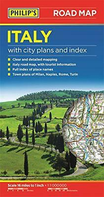 Philip's Italy Road Map (Road Maps) by PHILIPS | Paperback Book | 9781849074100