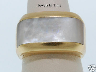 Di Modolo 18k Yellow Gold Mother Of Pearl Ring