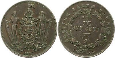 8598 British North Borneo  1 Cent 1887