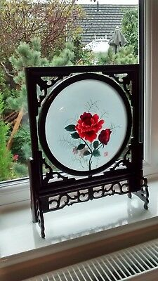Double Sided Silk Chinese Flowers Embroidery.