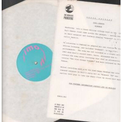 """KARL DENVER Wimoweh 12"""" VINYL 2 Track Promo With Info Sheet Featuring Meets Pi"""