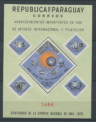 OD 4901. Paraguay. Space. Flags. Dad Paul. Philatelic Exhibition. MNH.