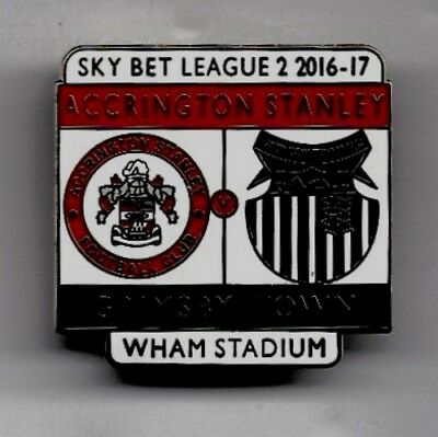 Accrington Stanley V Grimsby Town Badge - League Two 2016-17