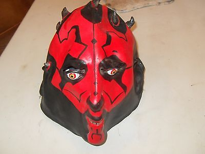 Darth Maul Adult Mask Lucasfilm Halloween Devil Frightening Rubber Latex Creepy