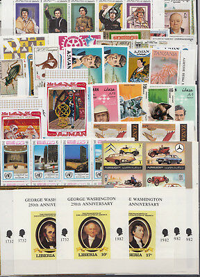 N 89. Worldwide Stamps. Set of 190 stamps + 10 blocks. MNH.