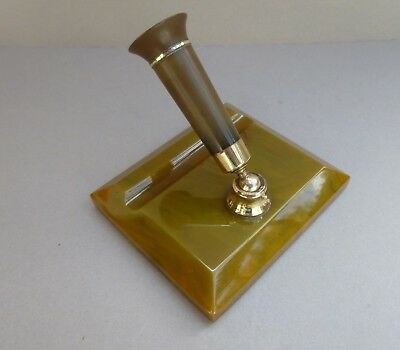 VINTAGE 1930s ART DECO DESK PEN STAND - PHENOLIC CATALIN BAKELITE