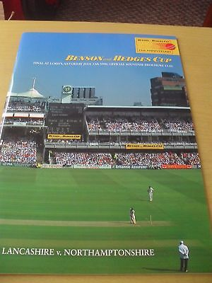1996 Benson & Hedges Final Programme