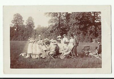 Garden Party Real Photo postcard. by H H Hole Williton Minehead. 1911.nr.Watchet