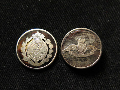 Two WWI Sweetheart Badges (missing pins) Royal Flying Corps and Royal Engineers