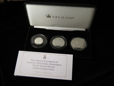 Jubilee Mint The QEII Longest-Reigning Monarch Silver Proof Coin Collection 2015