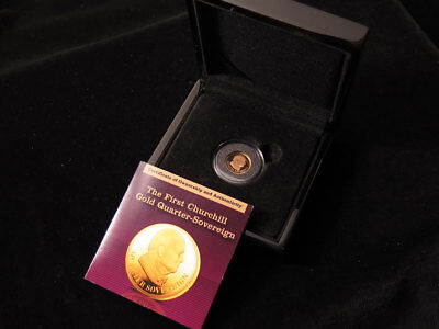 TDC 'The First Churchill Gold Quarter-Sovereign' 2010 (London Mint Office)