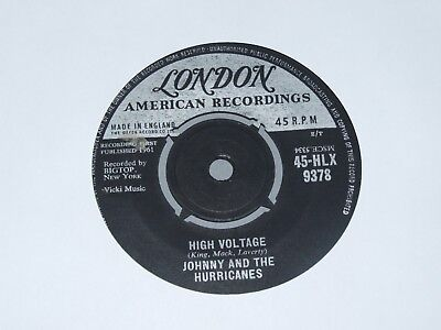 """JOHNNY AND THE HURRICANES """" HIGH VOLTAGE """" 7"""" Vinyl 1961"""