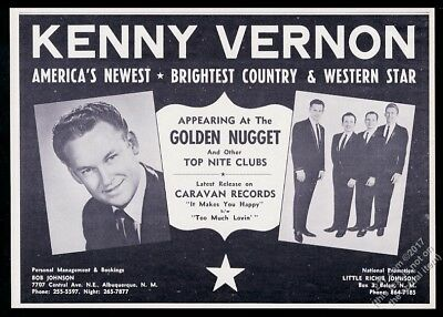 1966 Kenny Vernon photo Caravan Records vintage trade print ad