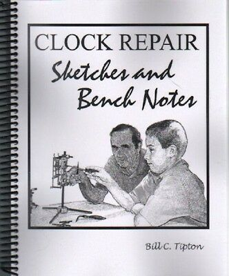 Clock Repair Sketches & Benchnotes - 36 Movements Sketched w repair notes, New!