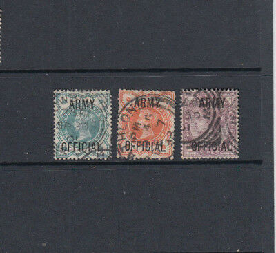 Three very nice old GB Victoria  Army Official Issues