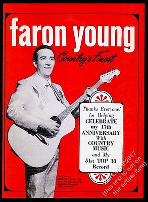 1968 Faron Young photo music trade gig booking ad