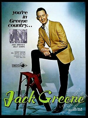 1968 Jack Greene photo music trade gig booking ad