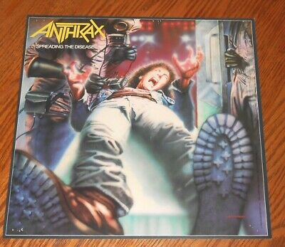 Anthrax Spreading the Disease Poster 2-Sided Flat Square Promo 12x12