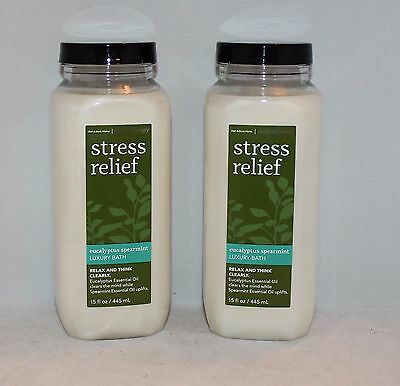 Bath & Body Works Stress Relief Eucalyptus Spearmint Luxury Bath X 2