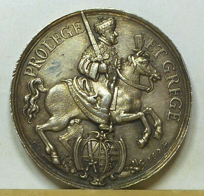 Germany Saxony silver Medal 1624 Almost Uncirculated