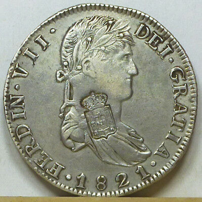 Portugal Countermarked 870 Reis ND (1834) Very Fine