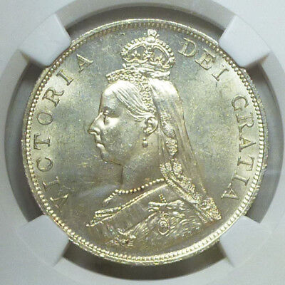 Great Britain Double Florin 1887 MS 62 NGC