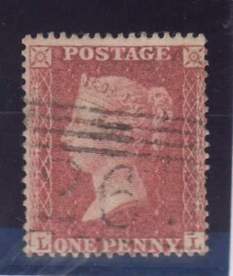 1857 1d. rose-red SG 36 (C11) plate 52 (LL) - fine used. Cat. £80.