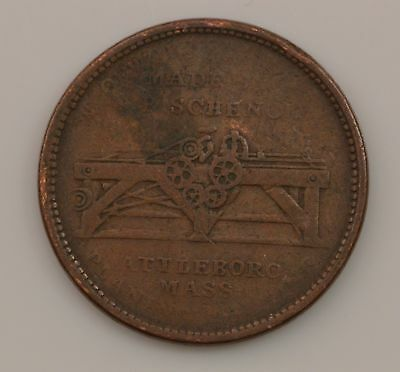 1834 Troy New York 1 Hard Times Token *Q73