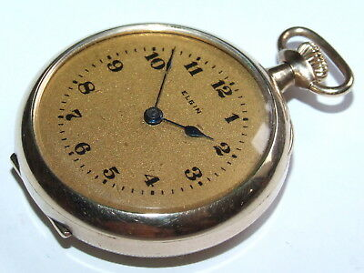 Beautiful V Scarce 1916 14ct Gold/F Elgin Highly Detailed Pocket – Fob Watch