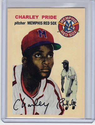 Charley Pride Memphis Red Sox Negro League custom card Bob Lemke 1954 style #251