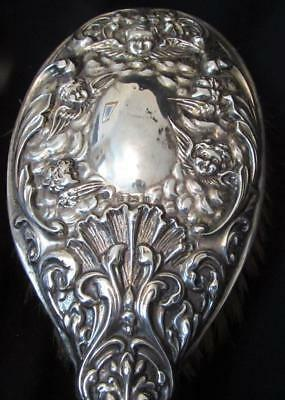 Superb Art Nouveus Sterling Silver Brush - 1900 - Reynolds Angels- Devenport
