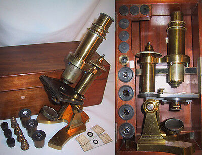Compound Monocular Microscope by W. Teschner