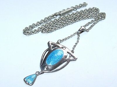Beautiful, Very Scarce c1905 Art Nouveau Charles Horner Solid Silver Pendant!