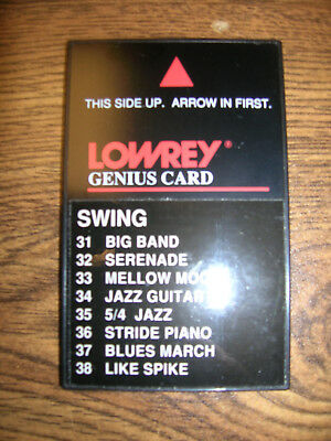 Lowrey Genius Software: Swing ... for use with MX-2 and others