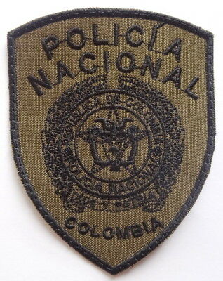 Colombia Subdued Police Écusson Police Patch Polizei