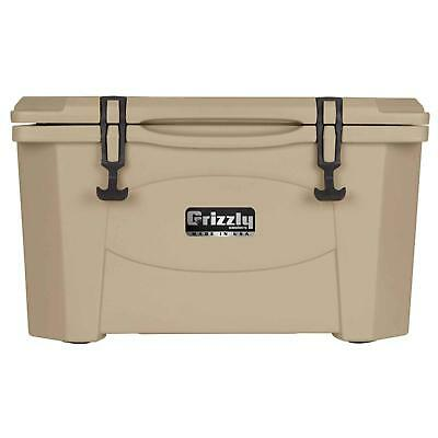 Grizzly Coolers 400013 RotoMolded (40QT) Cooler/Tan -