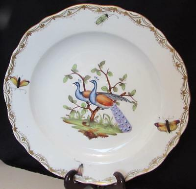 Antique 19th Century Meissen Hand Painted Ornithological Plate