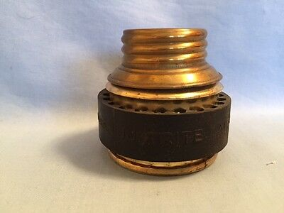 NOS JUSTRITE Spare Base - Miners Carbide Cap Lamp, UNUSED Vintage mining caving