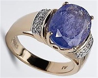 Harry Ivens IV Ring Silber 925 verg. Tansanit AAA und Weißtopase