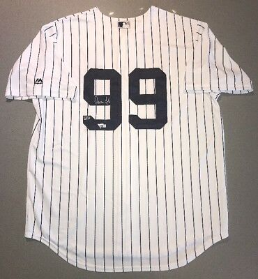Aaron Judge signed New York Yankees Autographed Rookie Baseball Jersey FANATICS