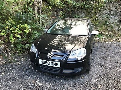 2008 Volkswagen Polo Bluemotion 2 Tdi A/c Black Non Runner Spares Or Repair
