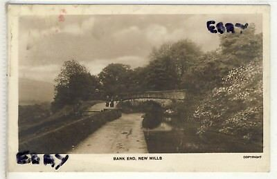 Bank End New Mills Derbyshire View Of Canal