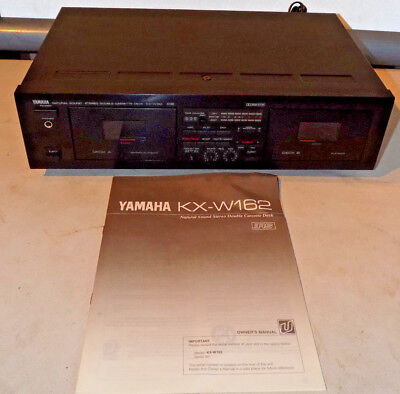 Vintage Yamaha Natural Sound Stereo Double Cassette Deck Kx-W162 W/manual Works