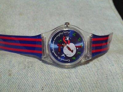 Men's Animated GOOFY Christmas Watch by DISNEY w/ New Battery