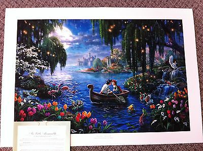 "Thomas Kinkade ""The Little Mermaid II"" Signed & Numbered Disney Lithograph 18x24"