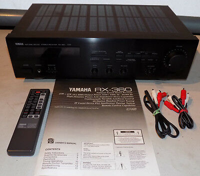 Vintage Yamaha Natural Sound Stereo Receiver Rx-360 W/ Remote Manual Wires Works